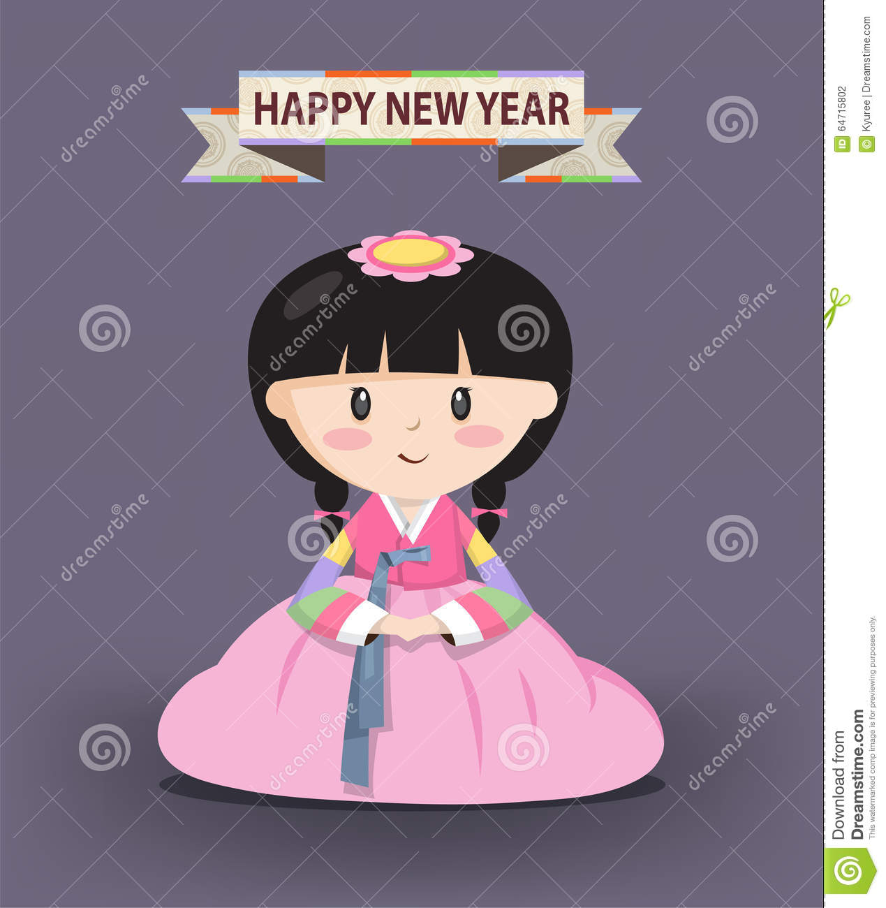 Korean stock illustrations 13902 korean stock illustrations girl in korean traditional costume a girl dressed in korean traditional costume called han m4hsunfo