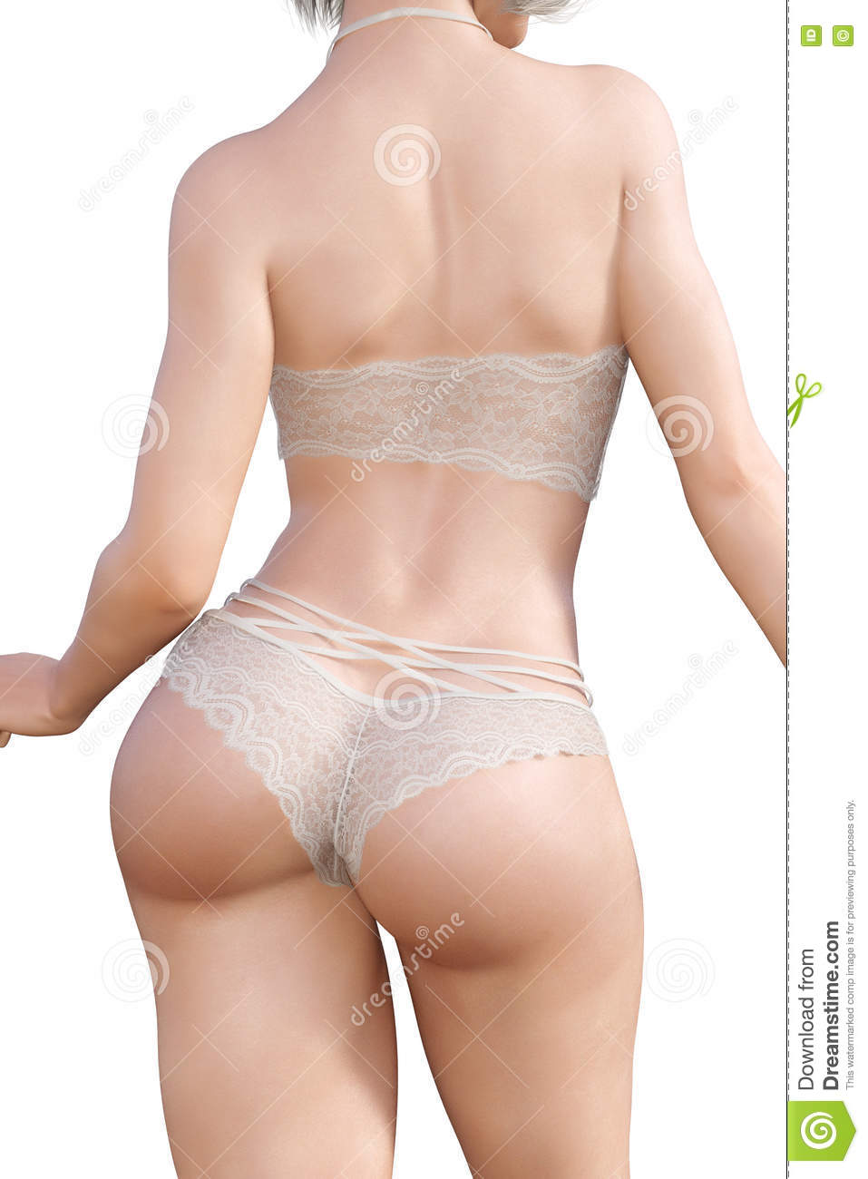 0d6611c515bcf Girl in lacy underwear. stock illustration. Illustration of adult ...