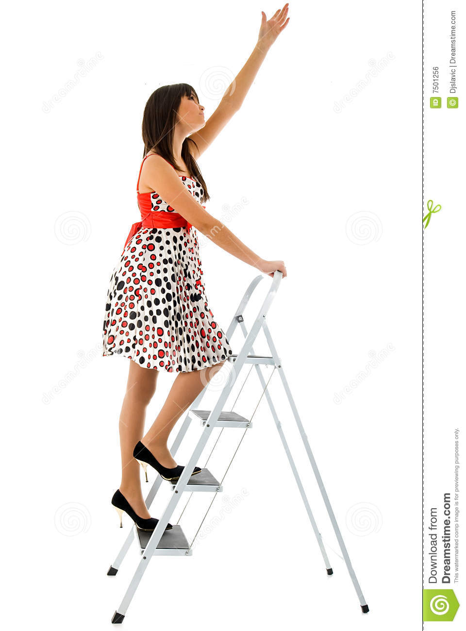 Girl And Ladder Royalty Free Stock Image Image 7501256