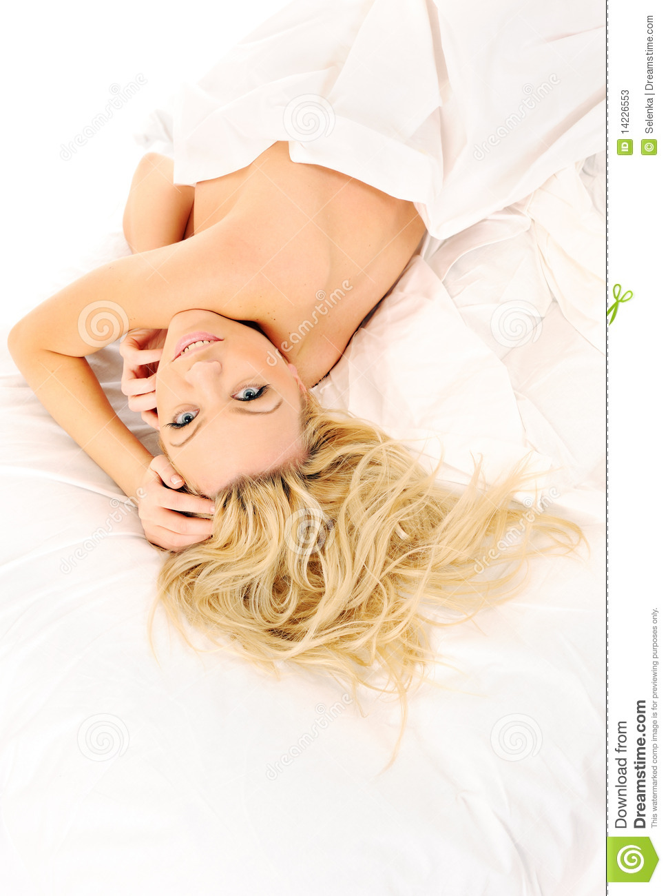 girl laying in bed stock photos image 14226553. Black Bedroom Furniture Sets. Home Design Ideas