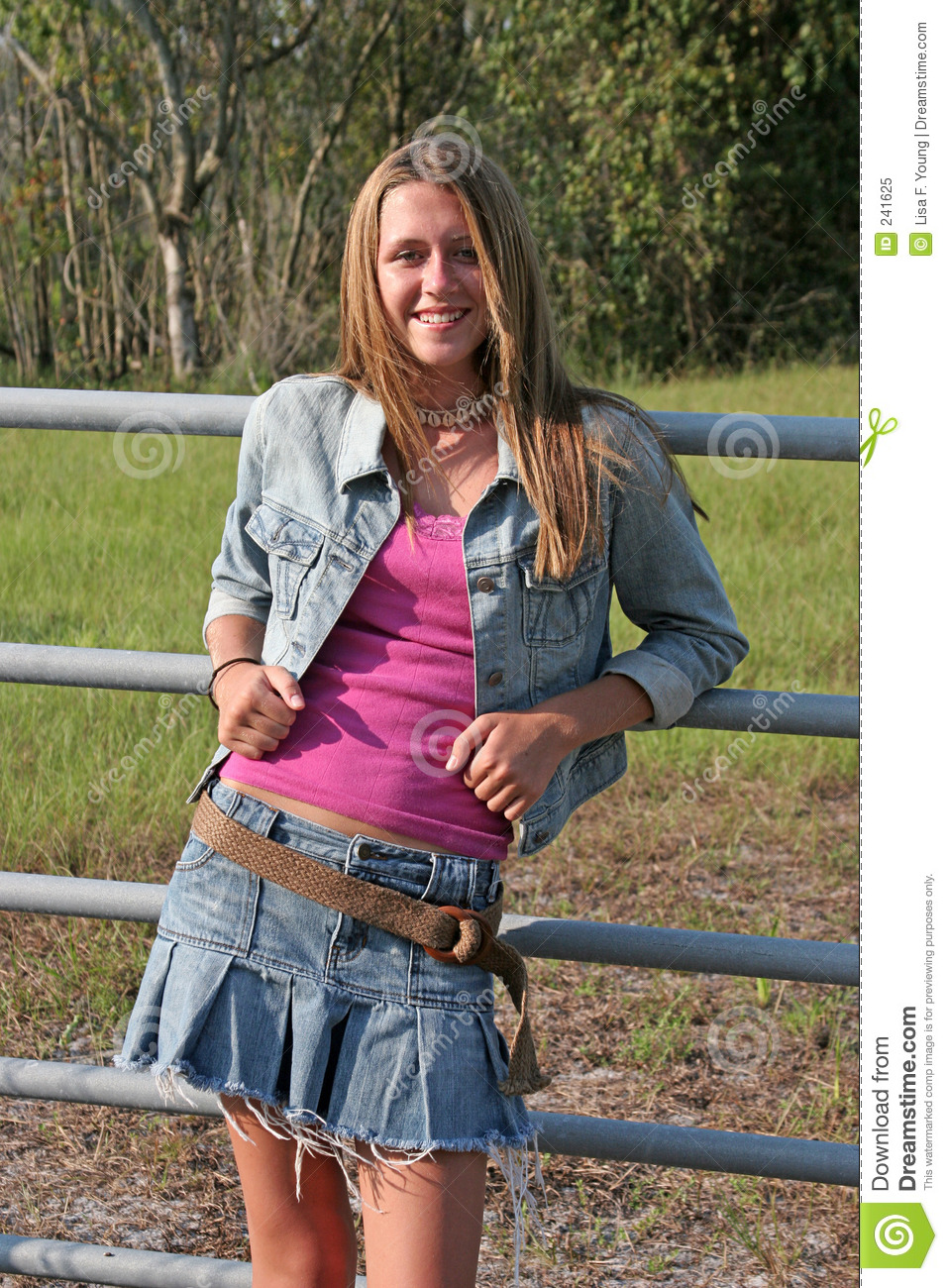 Girl Leaning On Fence Stock Image Image Of Girl Ranch