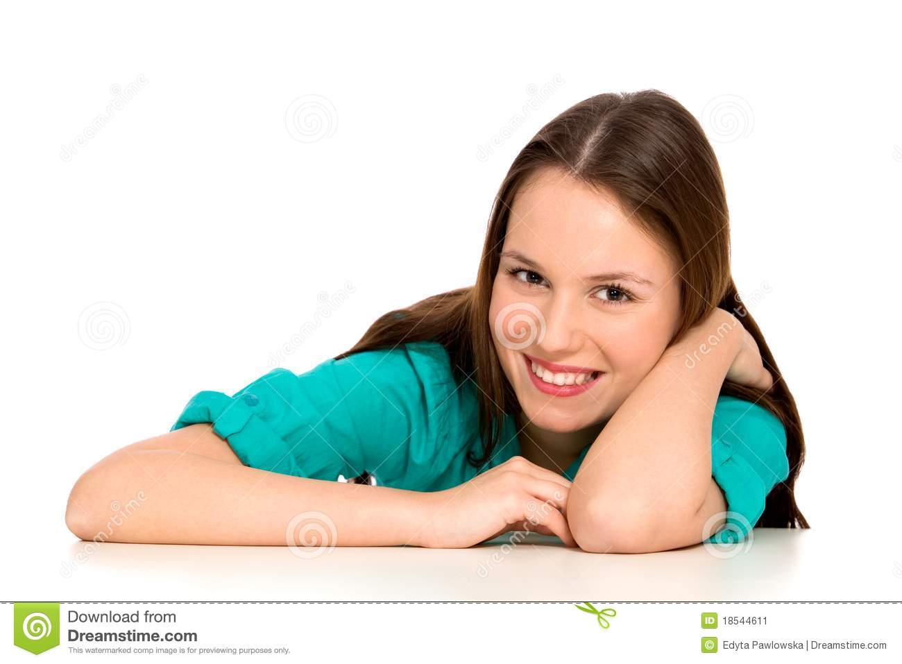 Girl Leaning On Table Stock Image Of Student Smile 18544611