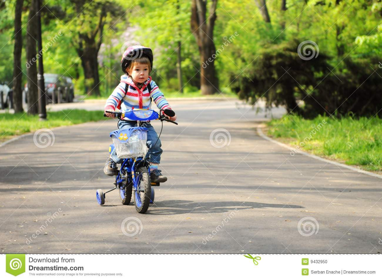 girl learning to ride bike stock photo image of action 9432950