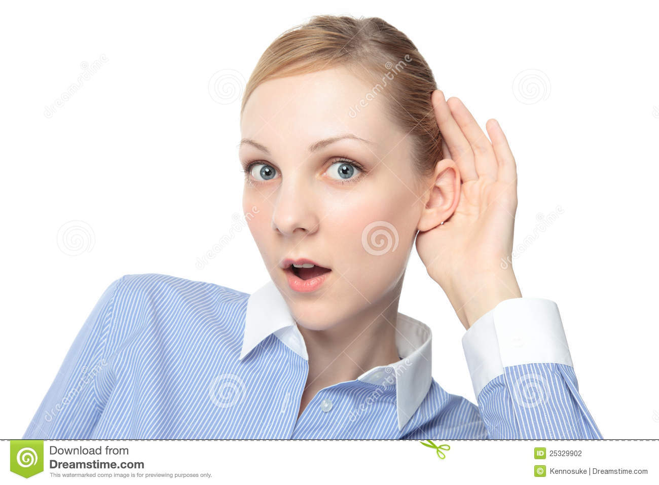 Girl Listening Intently Stock Photography Image 25329902