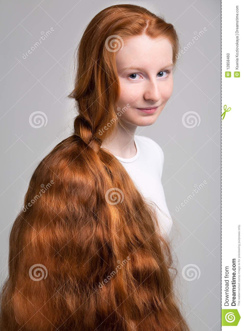 Pretty girl with wavy brown hair