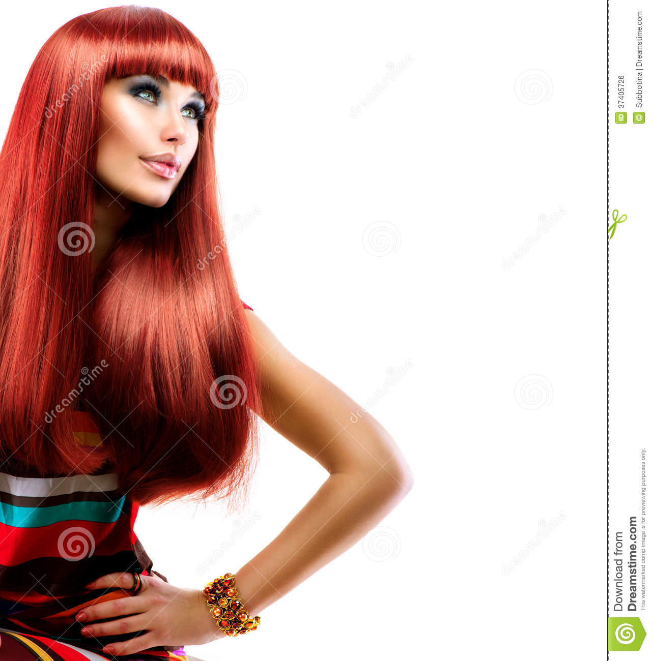 Girl With Long Red Hair Royalty Free Stock Image Image 37405726