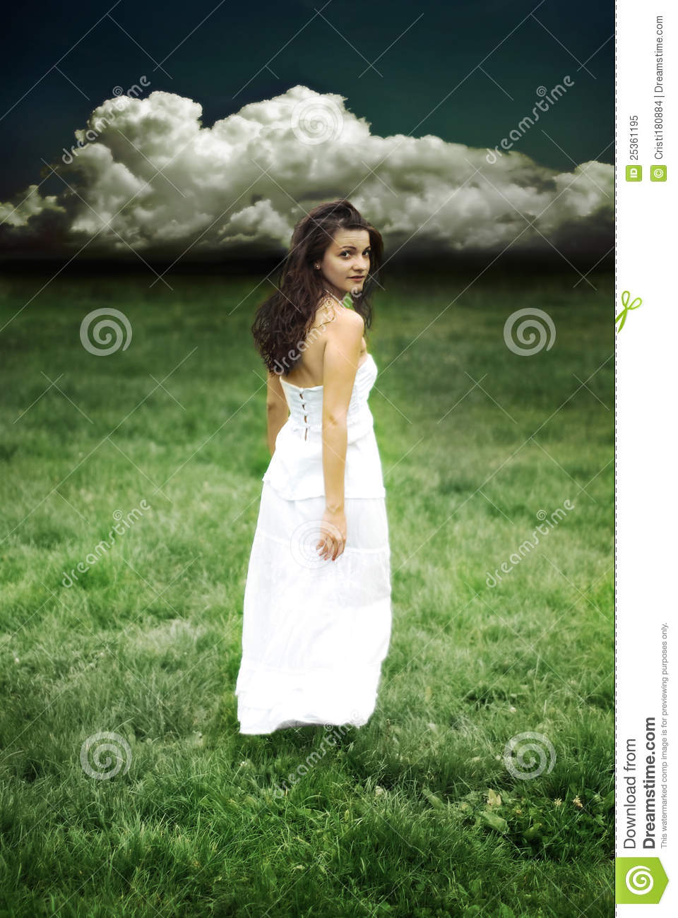 Girl Looking Back Royalty Free Stock Photo - Image: 25361195