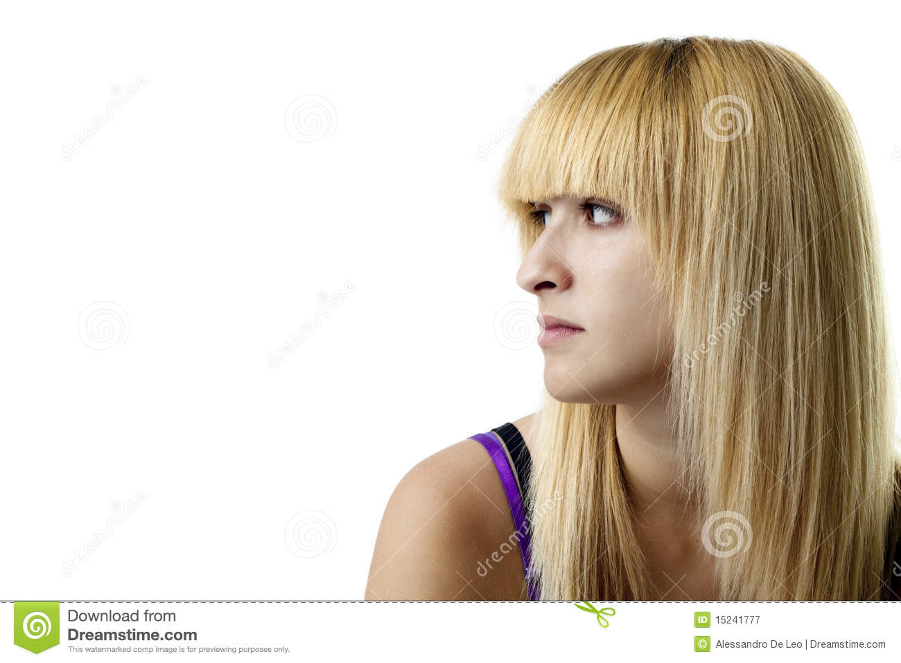 girl looking left stock image image of person shoulders 15241777