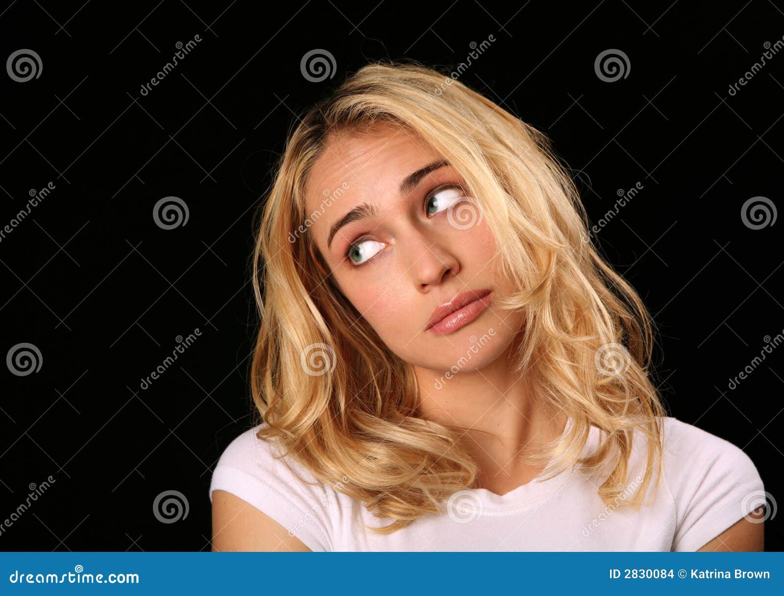 Girl Looking Sideways Stock Images Image 2830084