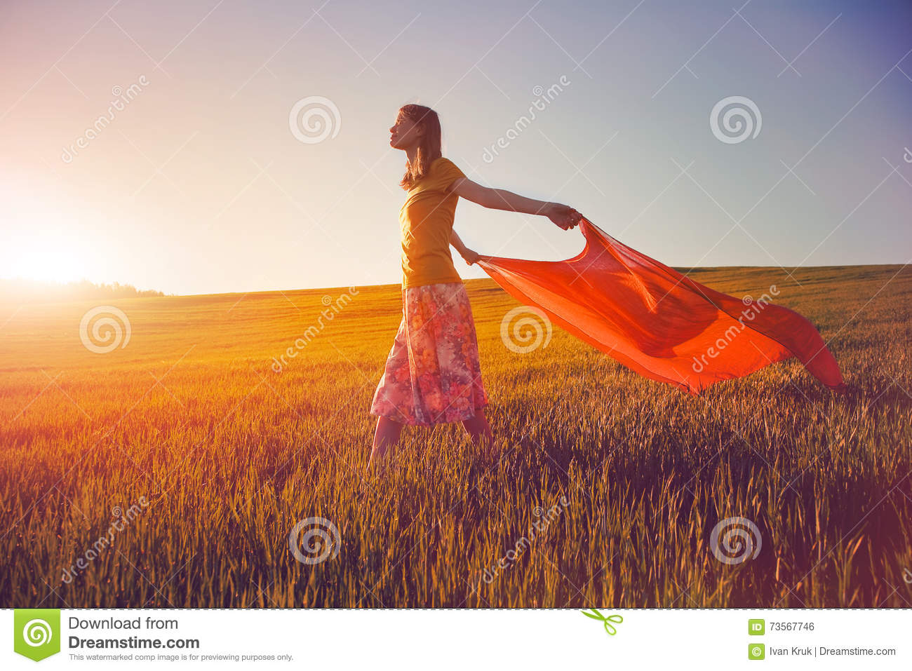 NewsFix posters as fictional characters  Girl-looking-sunrise-magical-tissue-as-inspiration-73567746