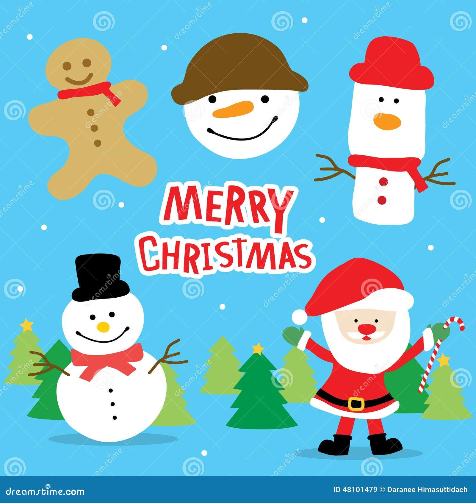 Girl Love Merry Christmas Cute Cartoon Vector Stock Vector ...