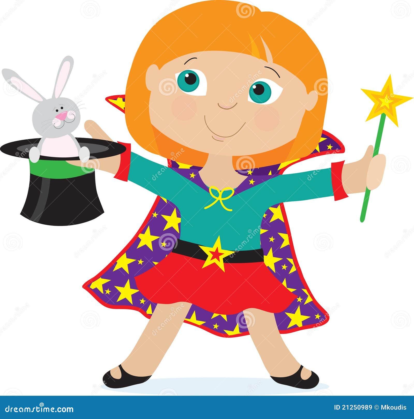 girl magician royalty free stock images image 21250989 Girls Basketball Clip Art Girls Night Clip Art