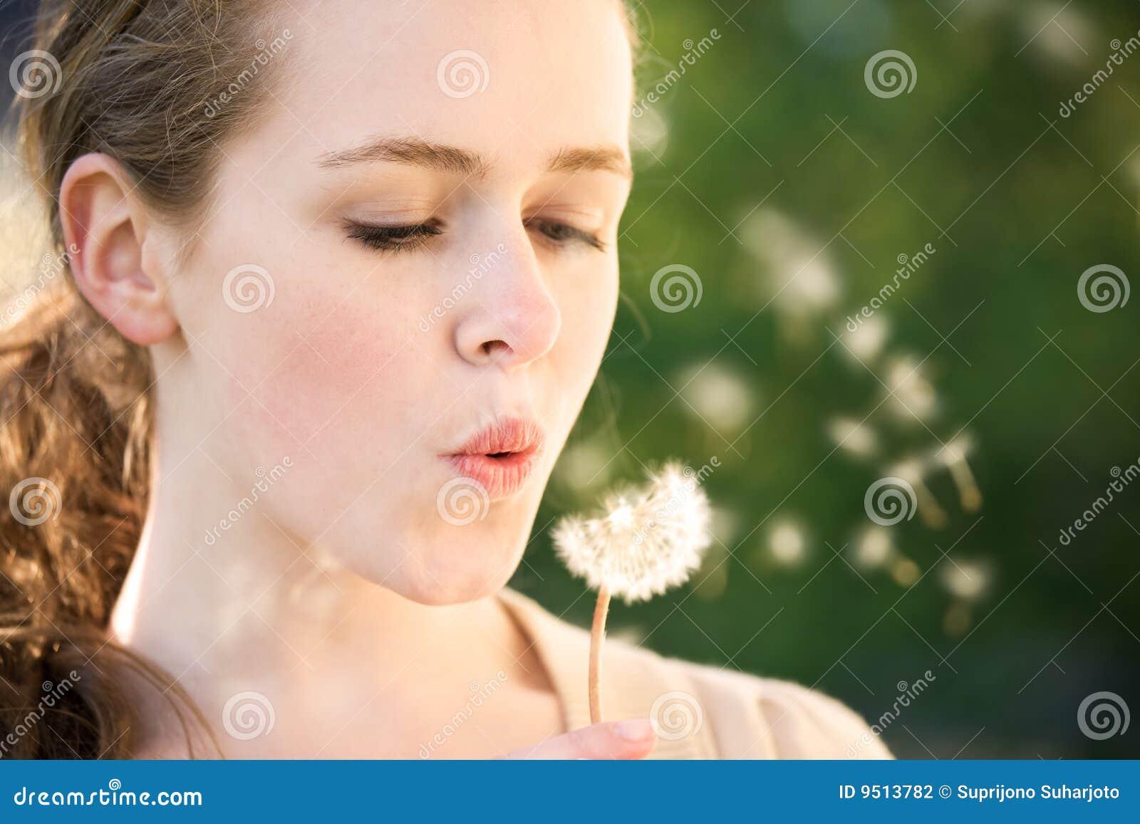Girl make a wish