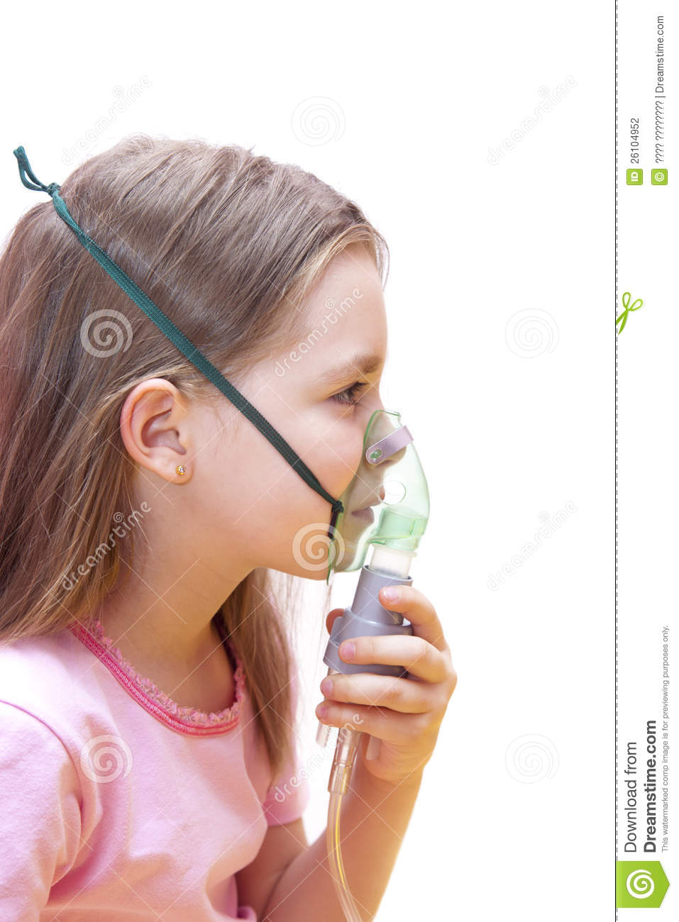 Girl Makes Inhalation Stock Photography - Image: 26104952