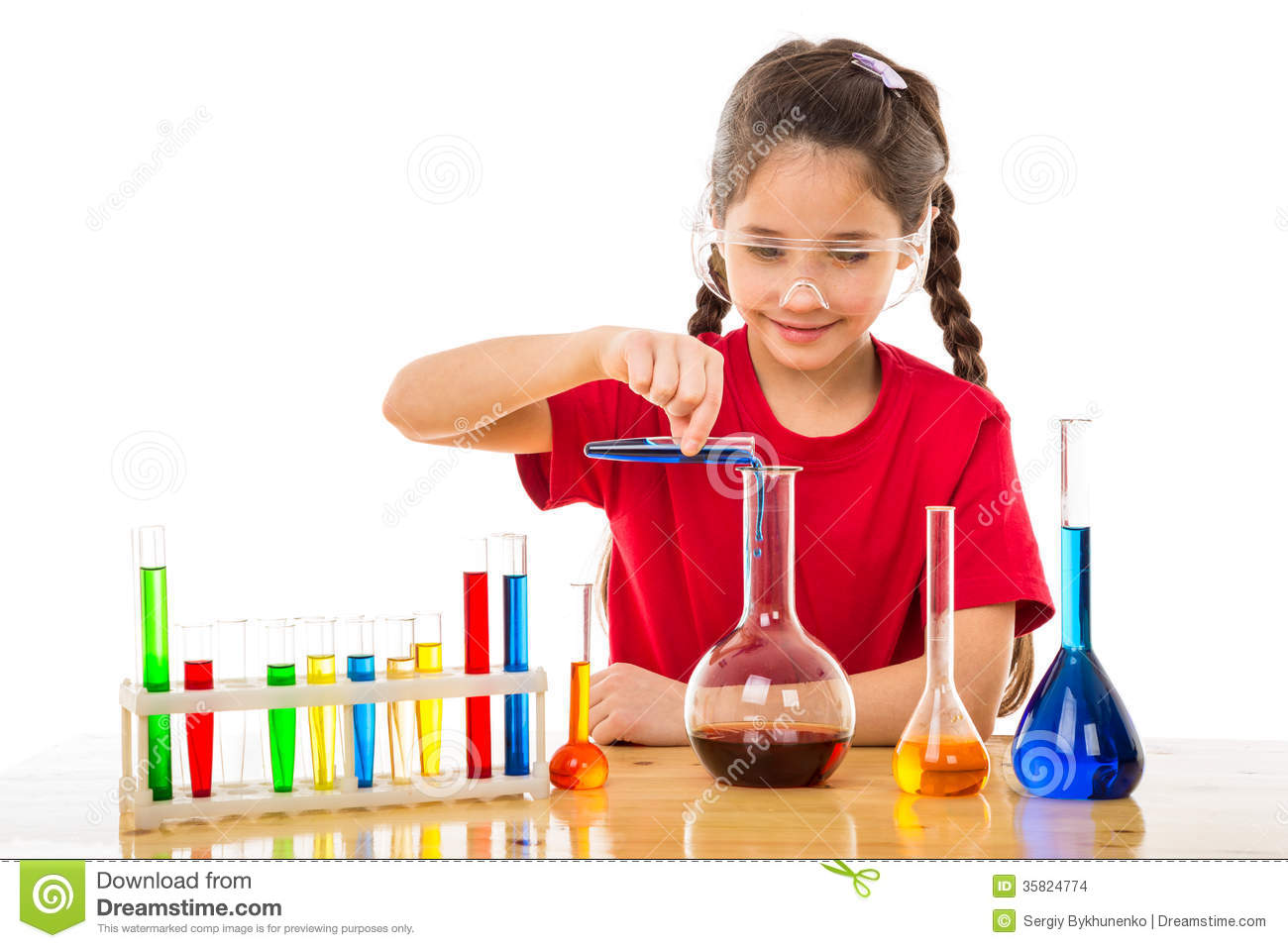 Hong Kong House Girl Making Chemical Experiments Stock Images Image