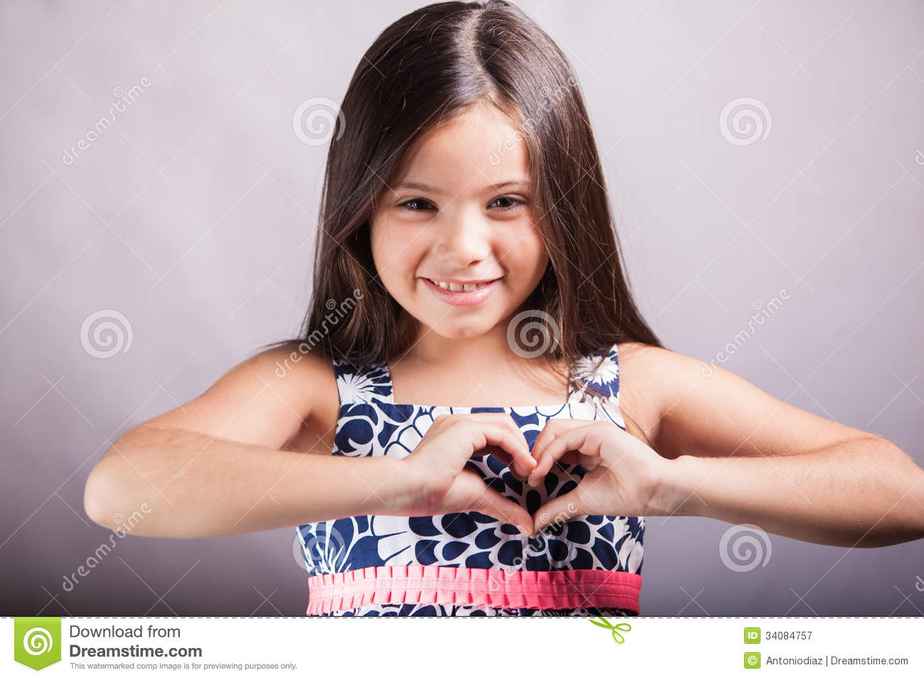 Girl Making A Heart With Her Hands Stock Image - Image of heart ...