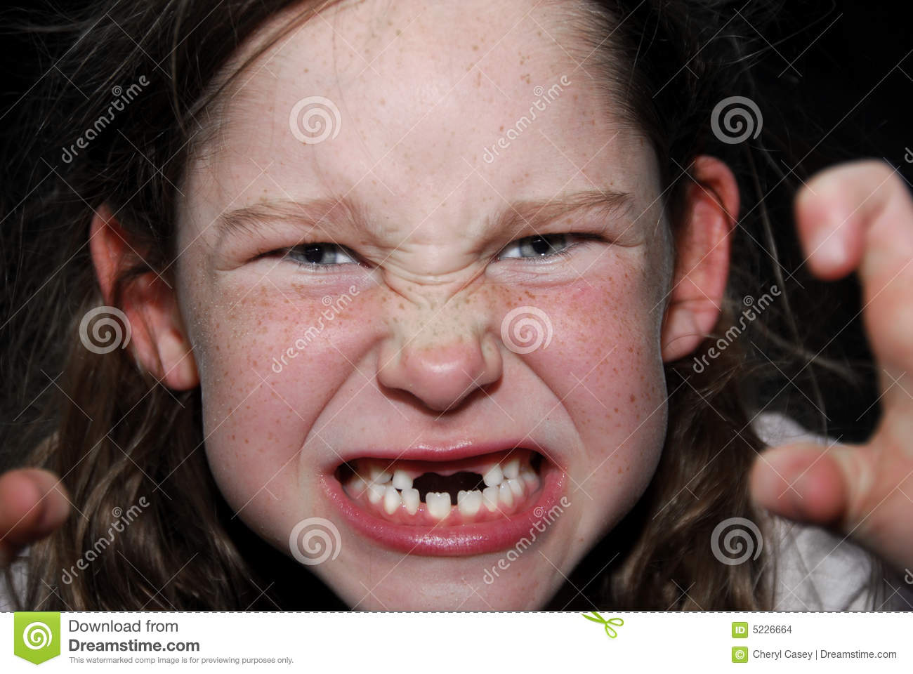 Girl Making Scary Face