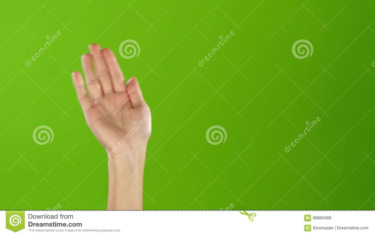 Girl with manicure waving hello raising hand up green screen girl with manicure waving hello raising hand up green screen stock footage video of nice frame 88660468 kristyandbryce Image collections