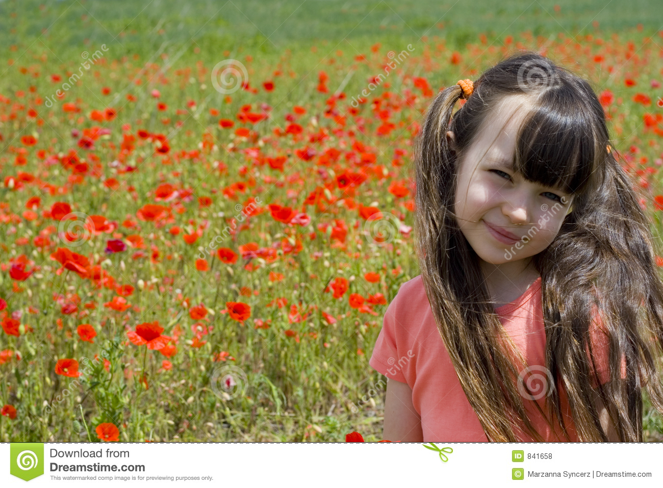 Girl on meadow