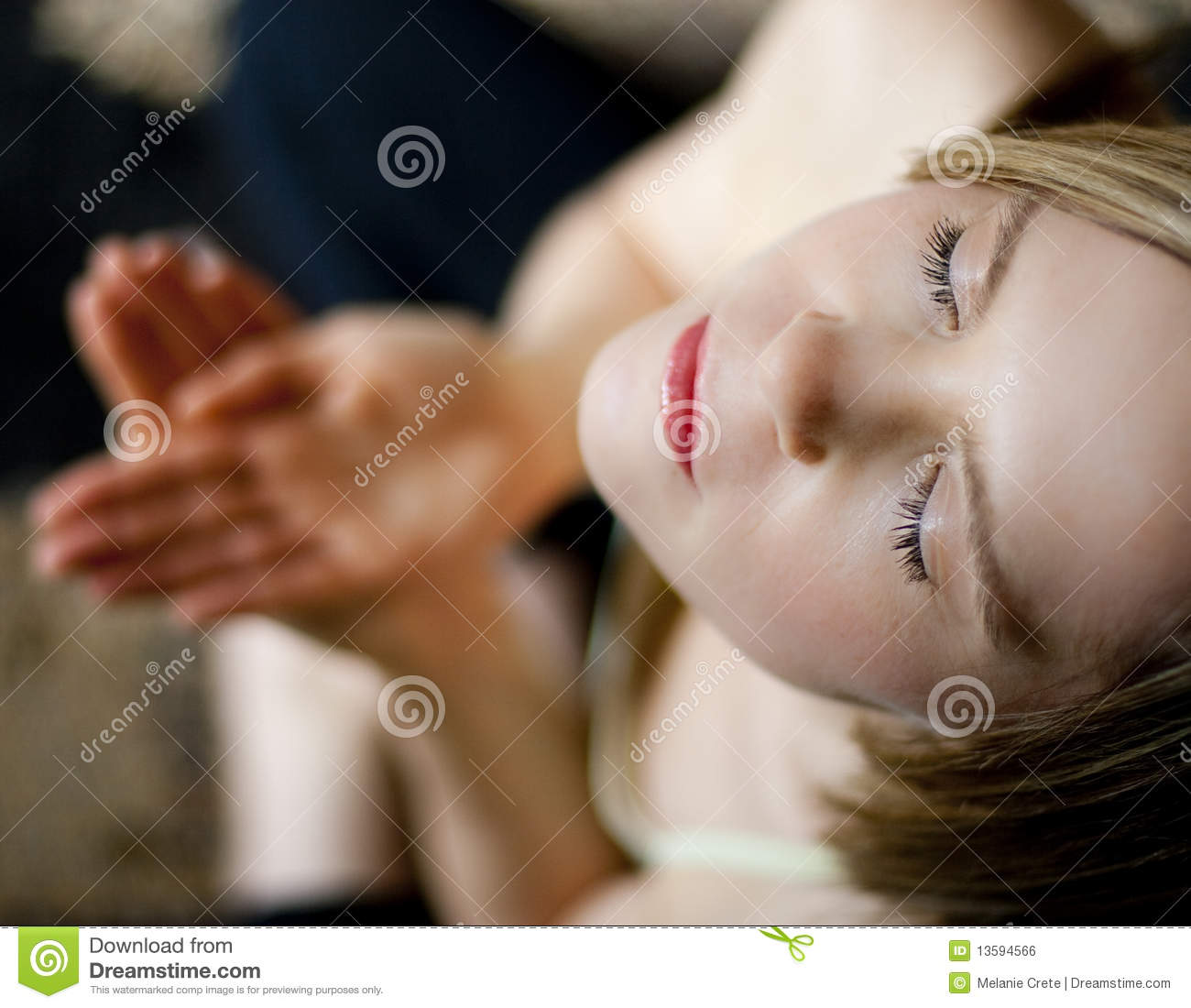 Download Girl Meditating In Yoga Stance Stock Photo - Image of posture, relaxation: 13594566
