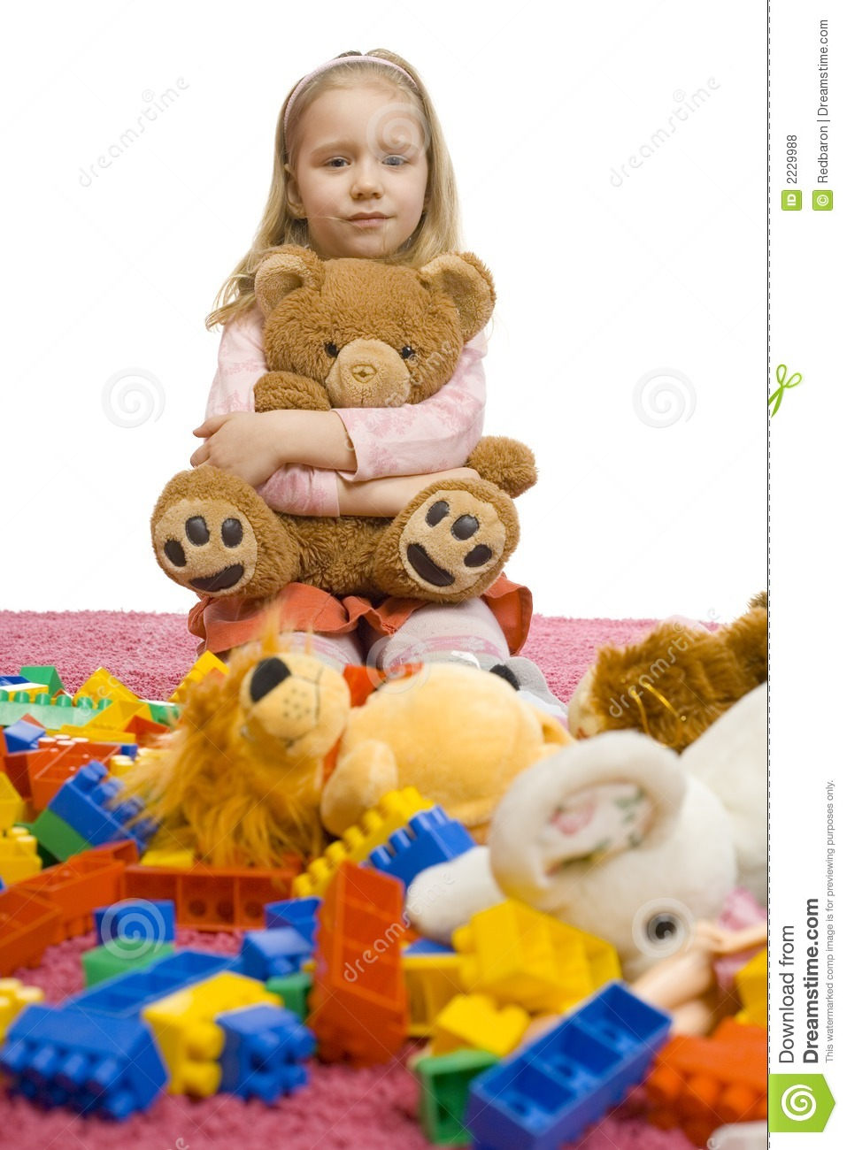 girl in the middle of toy mess stock photo image 2229988. Black Bedroom Furniture Sets. Home Design Ideas