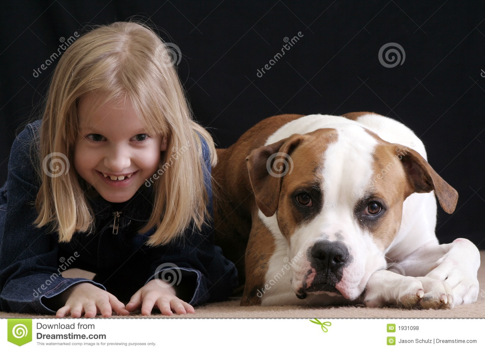 Girl mimics dog