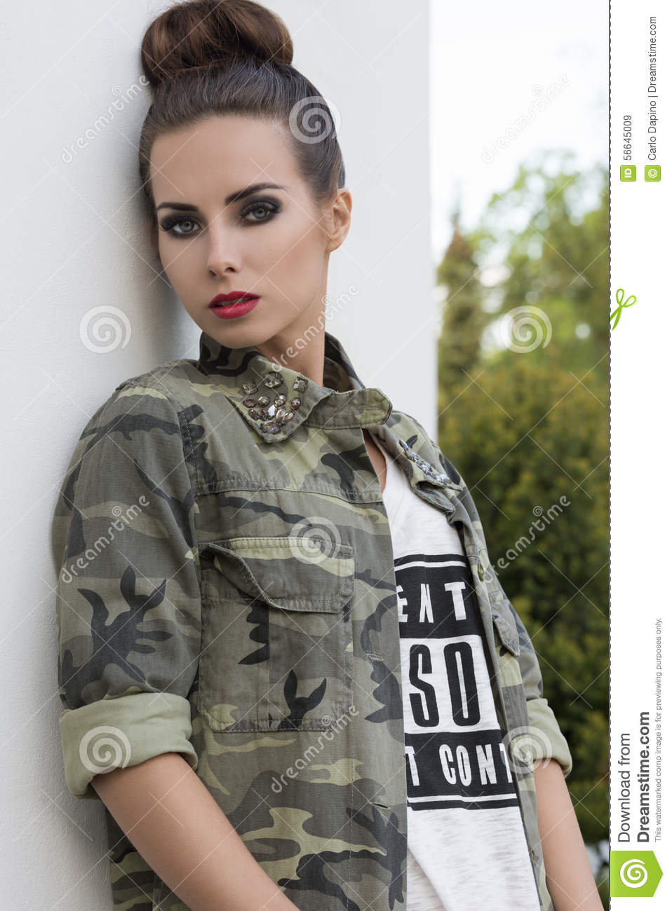 Girl With Modern Urban Style Stock Photo Image 56645009
