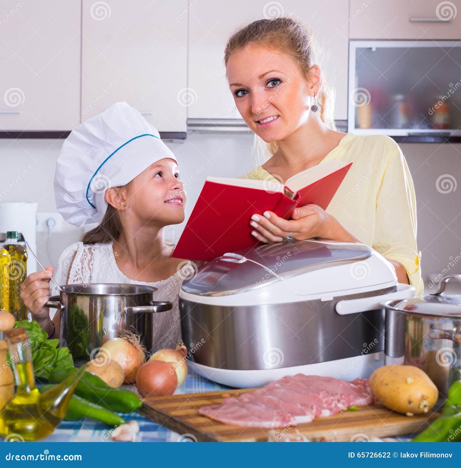 mom cooking food