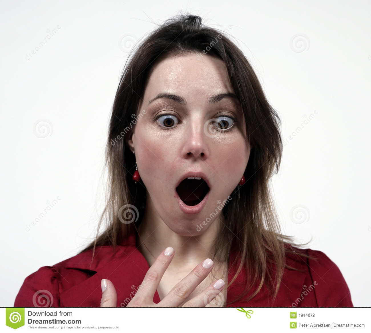 Share girl with mouth open