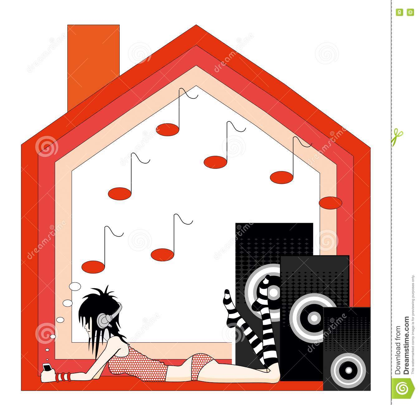 Girl in music of house stock photography image 24788722 for House music girls