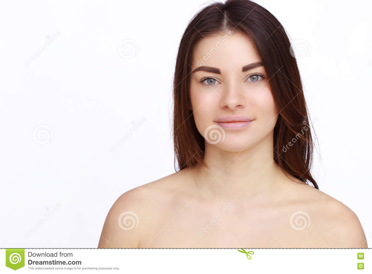 Girl with naked shoulders stock image. Image of model