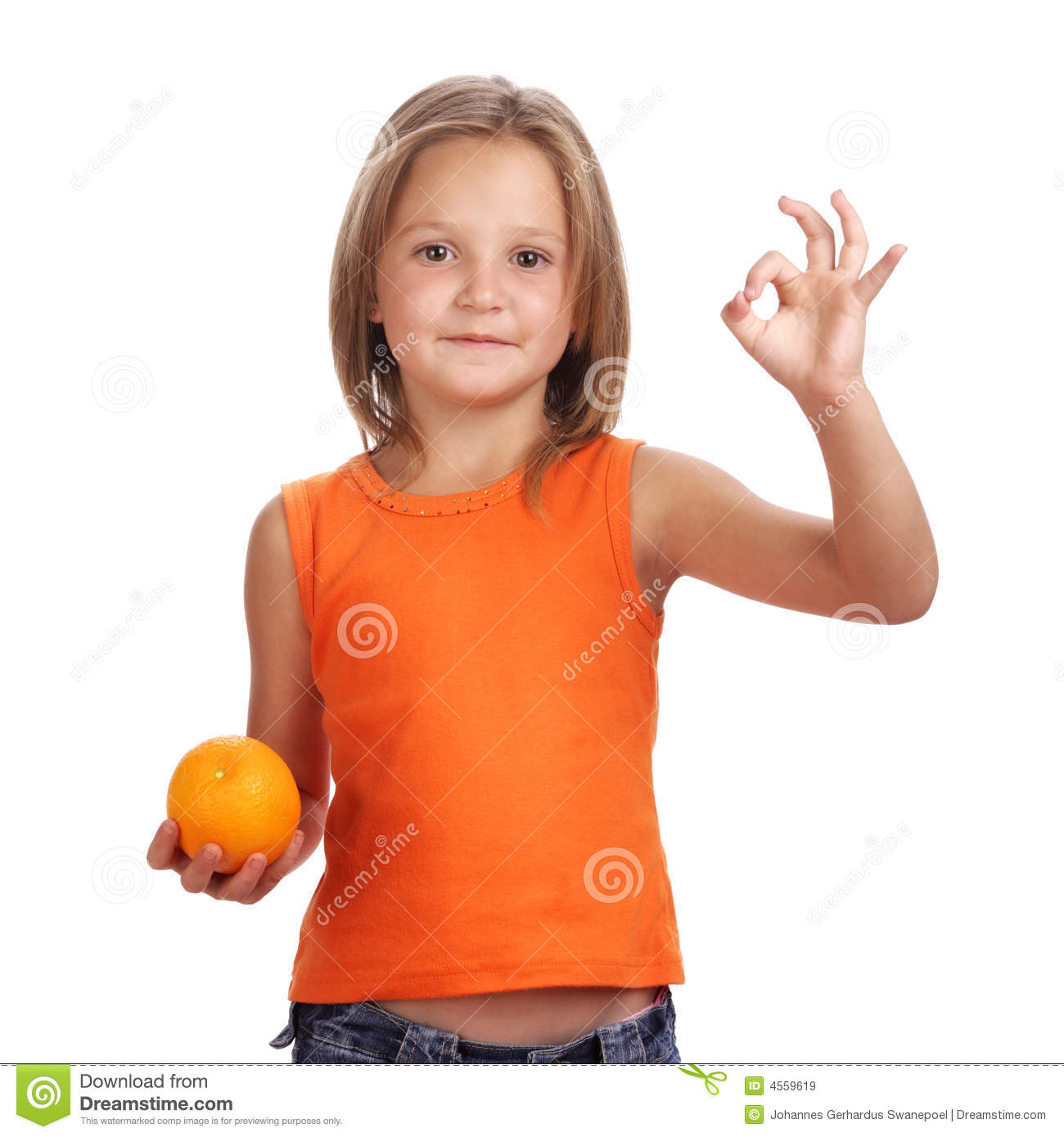 Girl With Orange Royalty Free Stock Images  Image 4559619