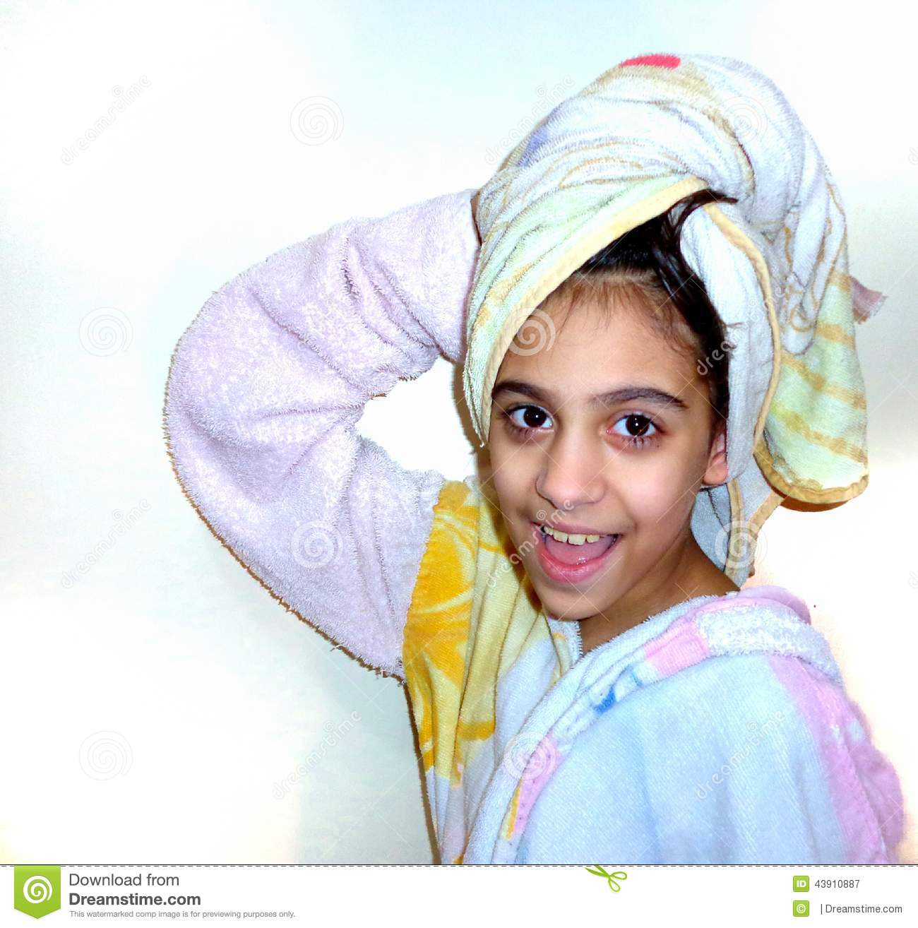 Girl out of the shower