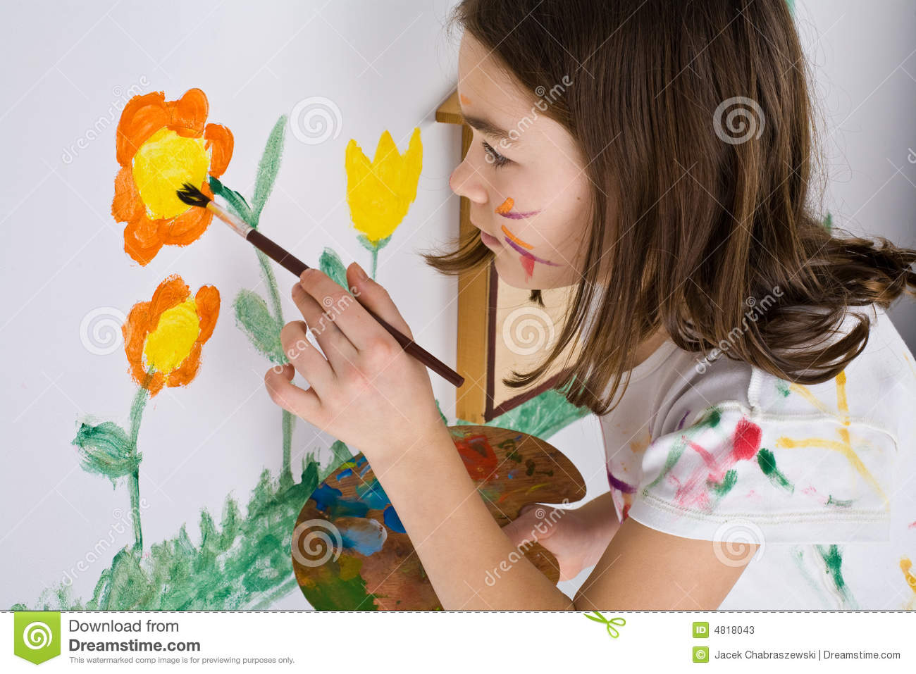 girl painting stock photos image 4818043 brush clip art with no background brush clip art with no background