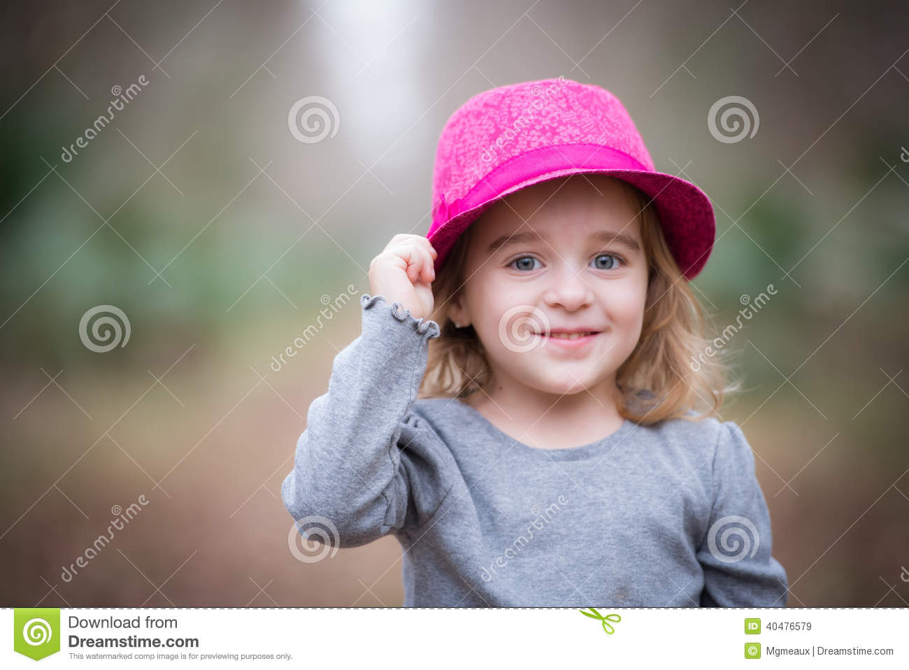 Girl in the pink fedora