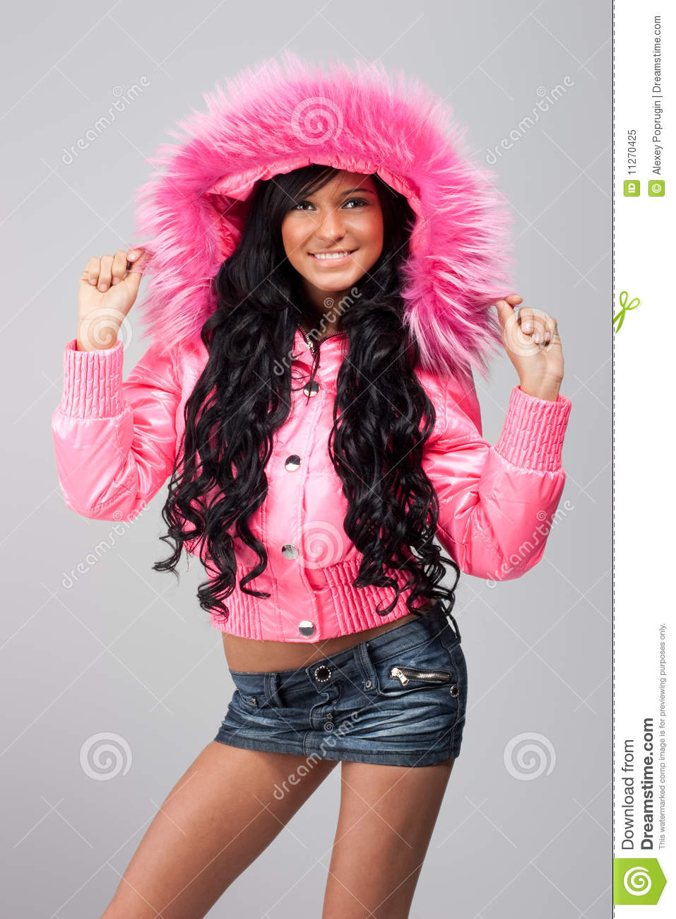 Hot girl in pink