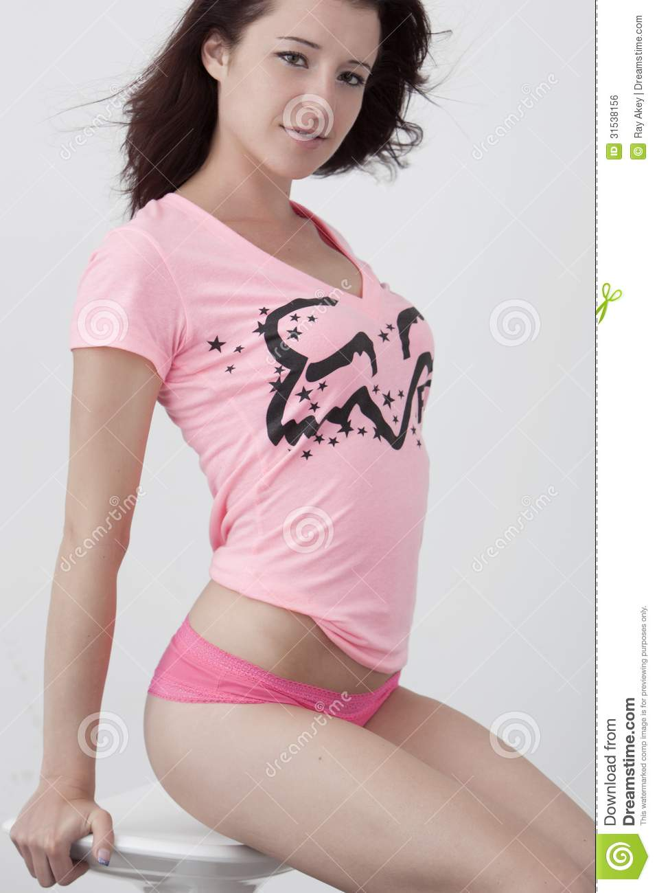 T shirt and panties on song