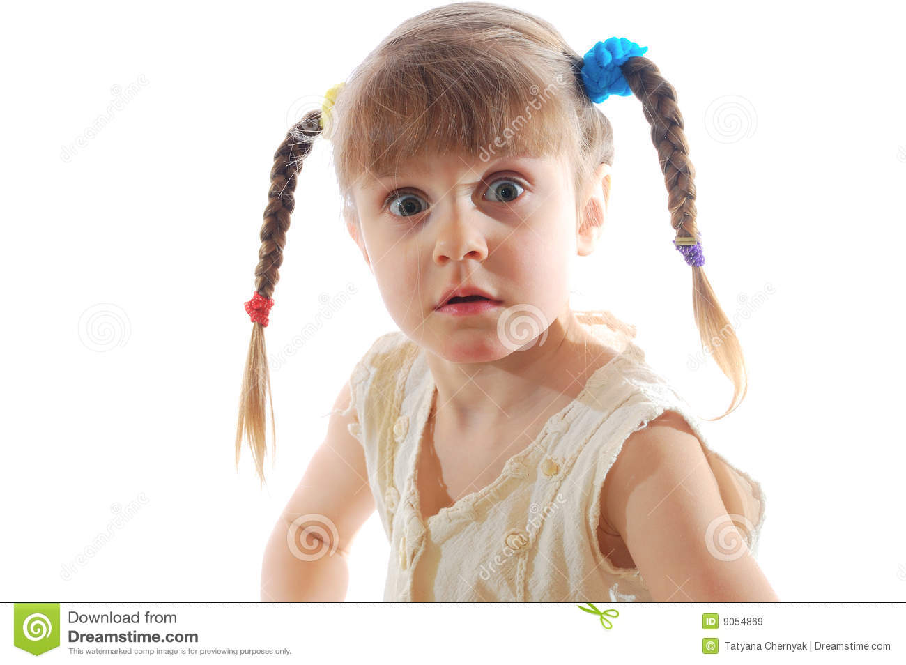 Girl with plaits stock image. Image of plaits, little ...