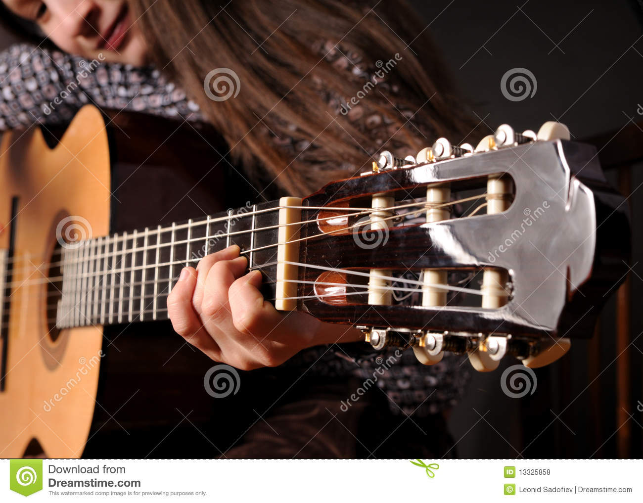 Girl Playing Acoustic ...