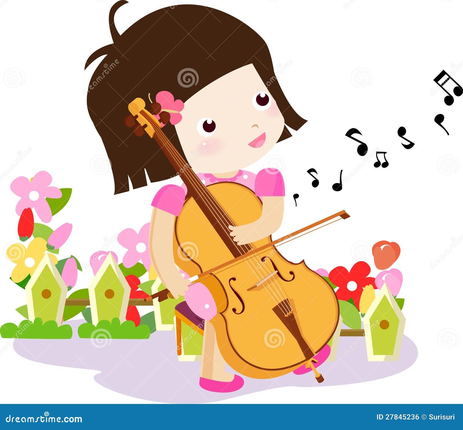Cello cartoon cello player stock photography image 32561422 - A Girl Playing A Cello Royalty Free Stock Image
