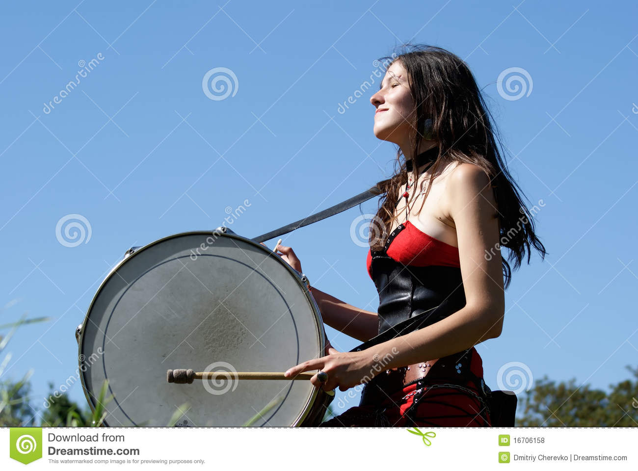 Girl Playing The Drums Royalty Free Stock Photos - Image -7736