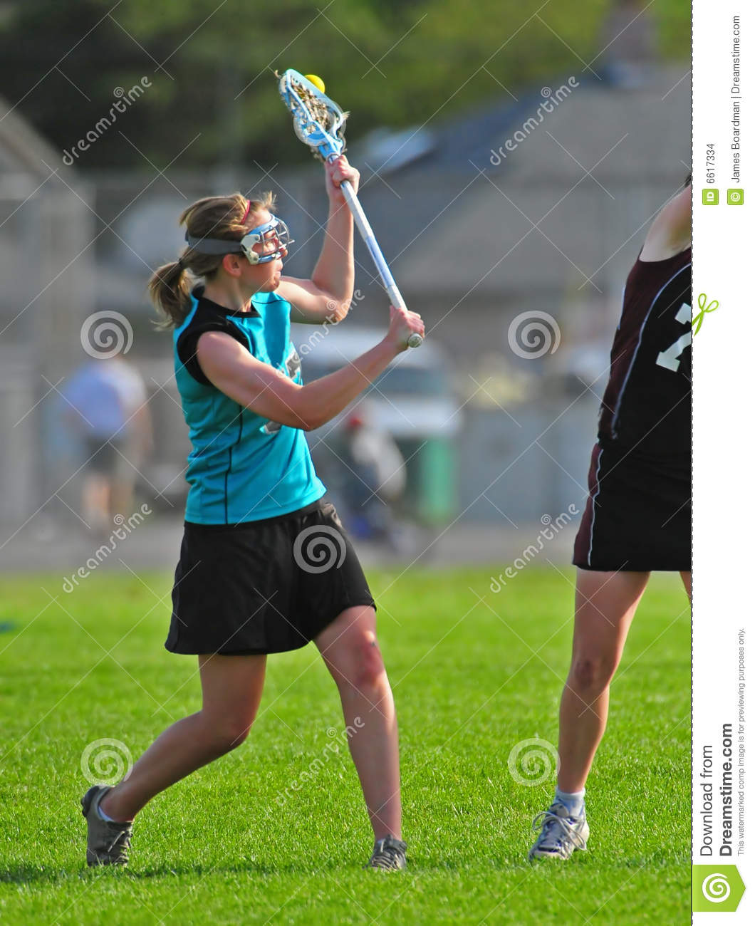 girl playing lacrosse stock images image 6617334