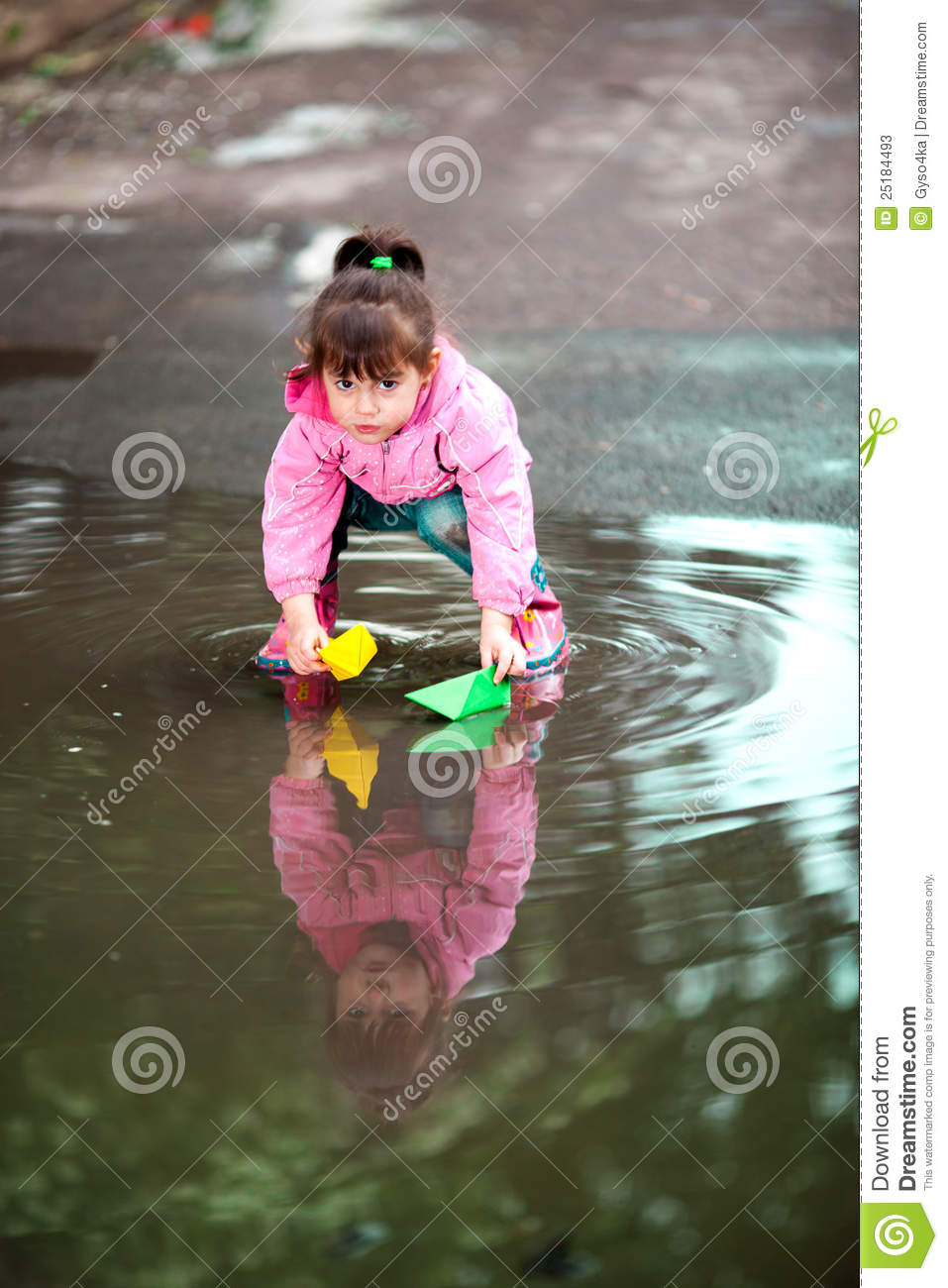 Girl Playing In Puddles Stock Photos Image 25184493