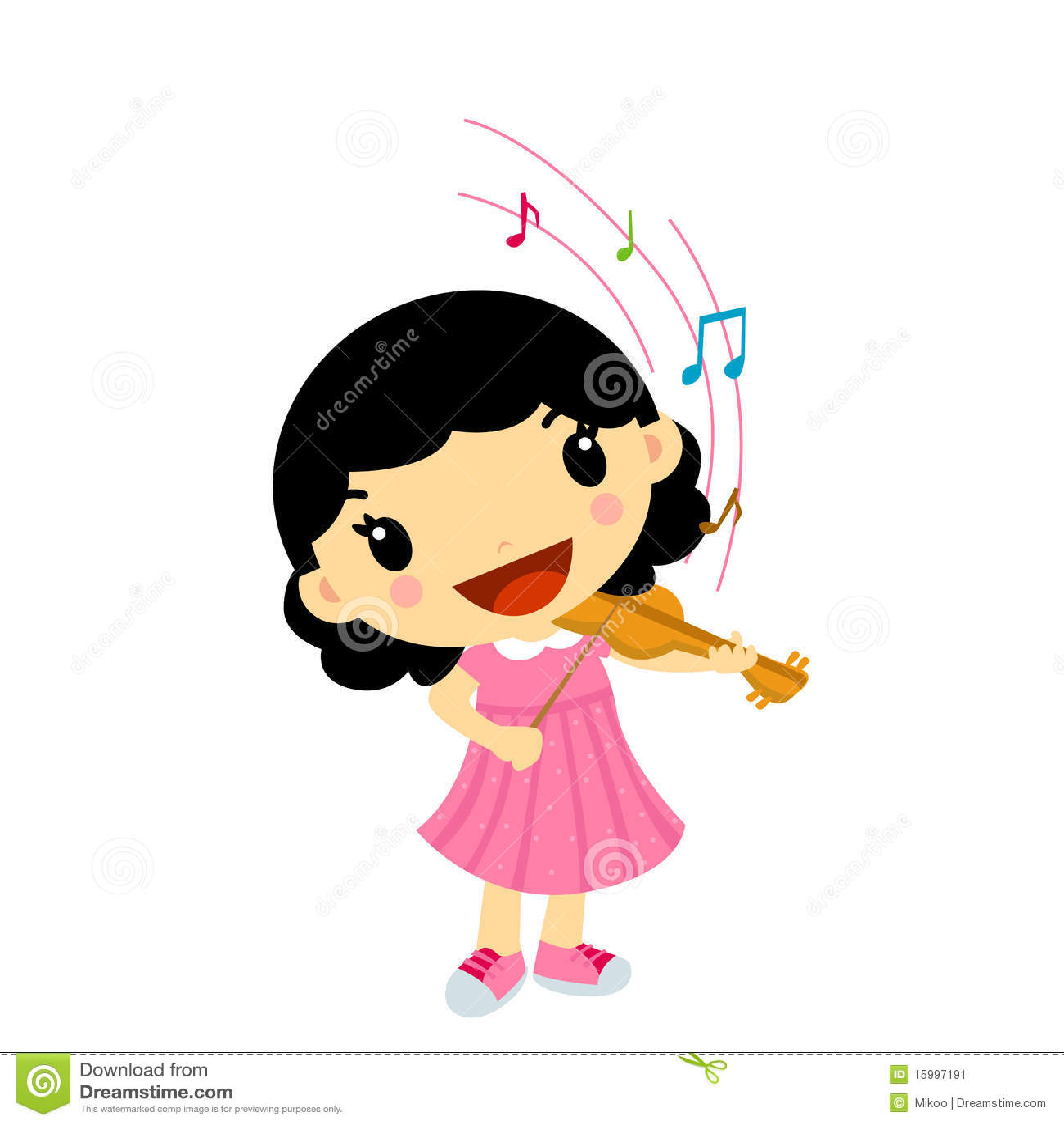 girl playing violin stock illustrations – 448 girl playing violin