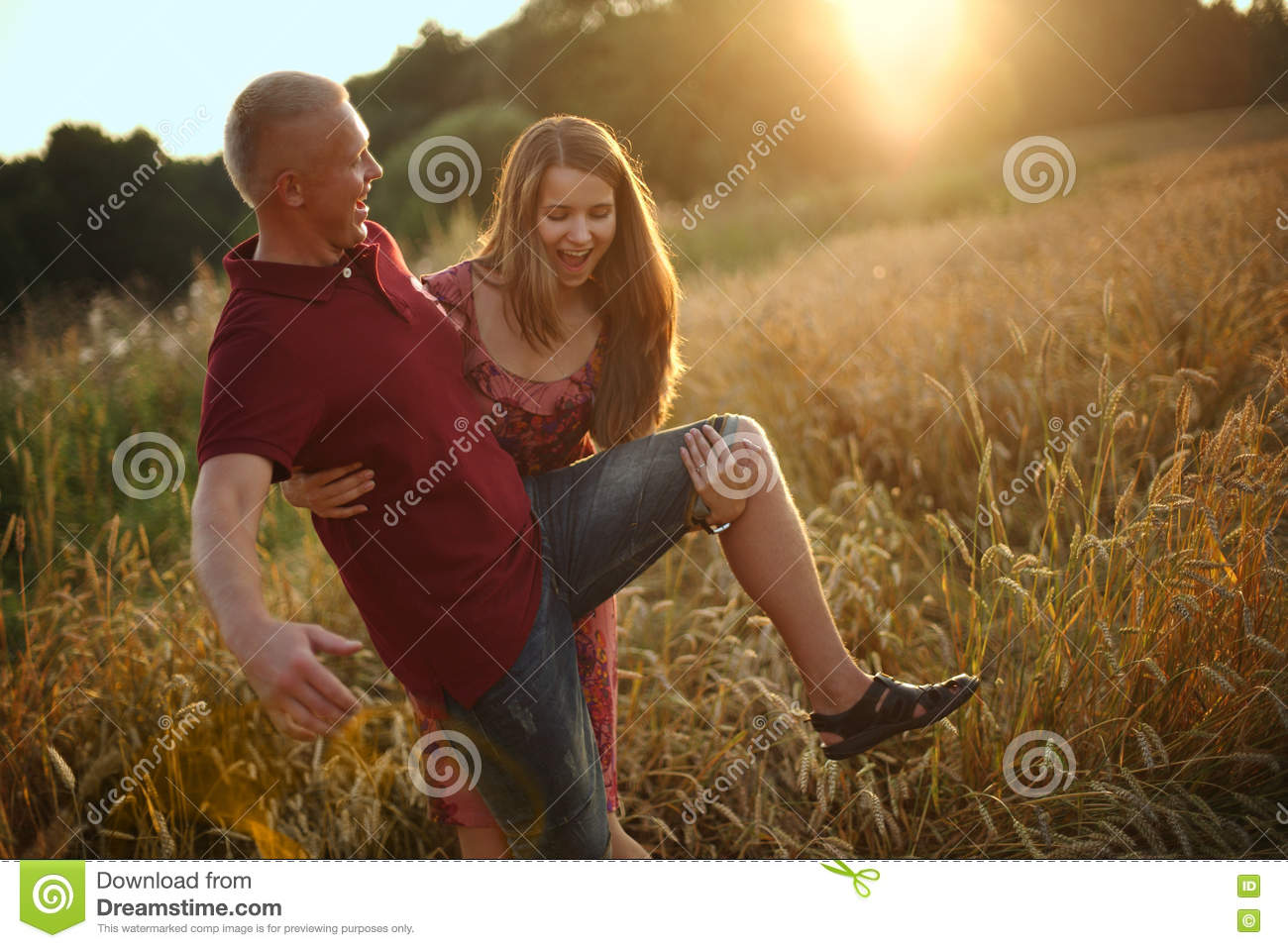 Girl plays the fool with Man
