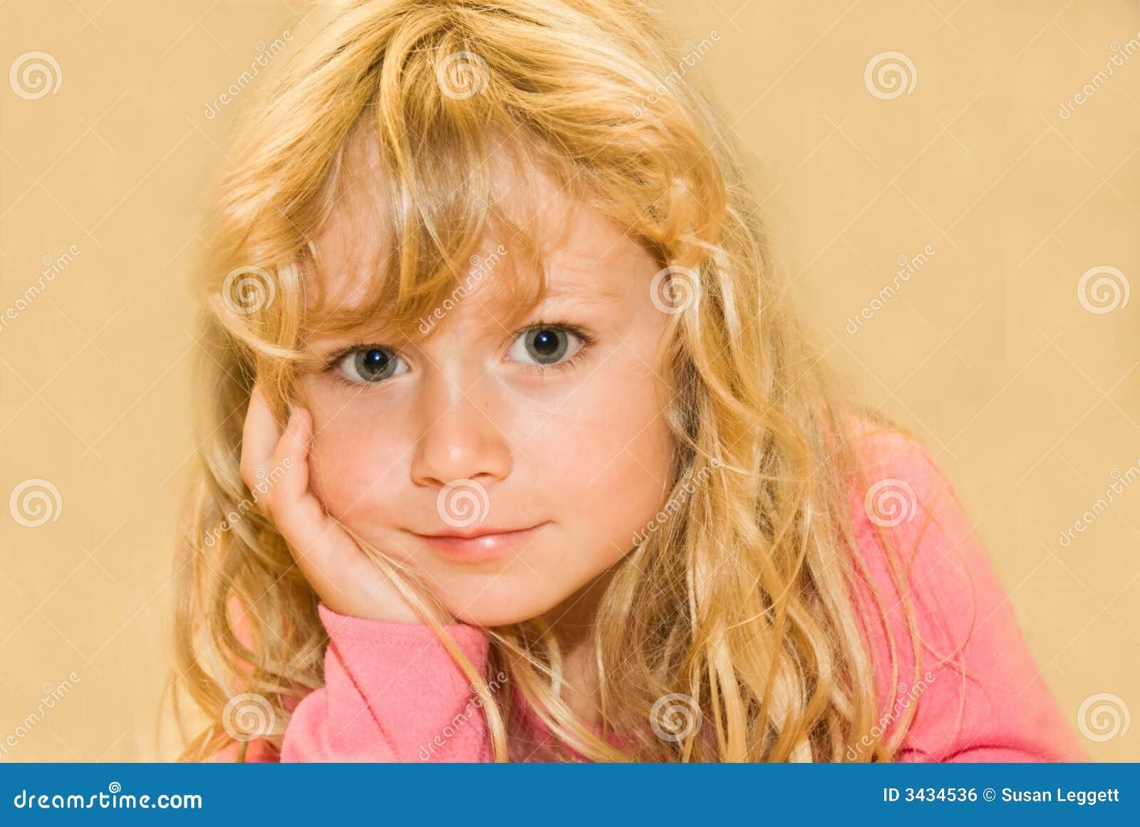 Girl Posing, darker tones