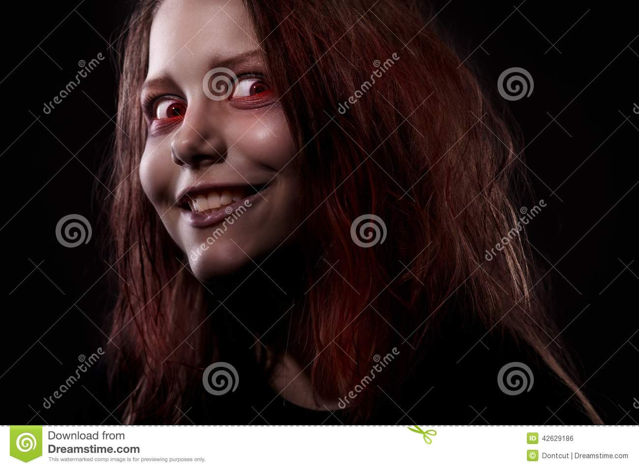 Girl Possessed By A Demon Stock Photo - Image: 42629186