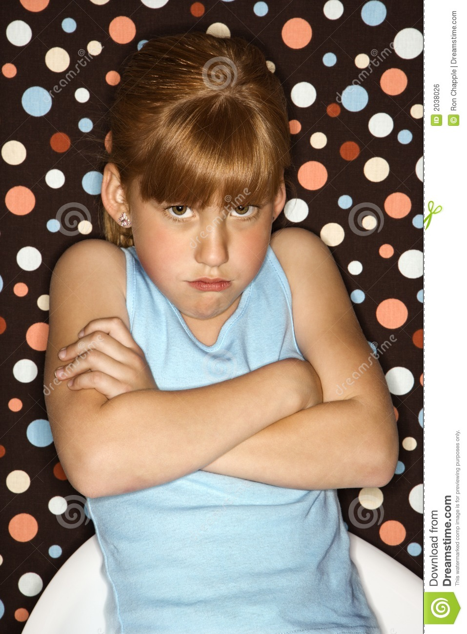 Girl Pouting With Arms Crossed. Royalty Free Stock Image ...