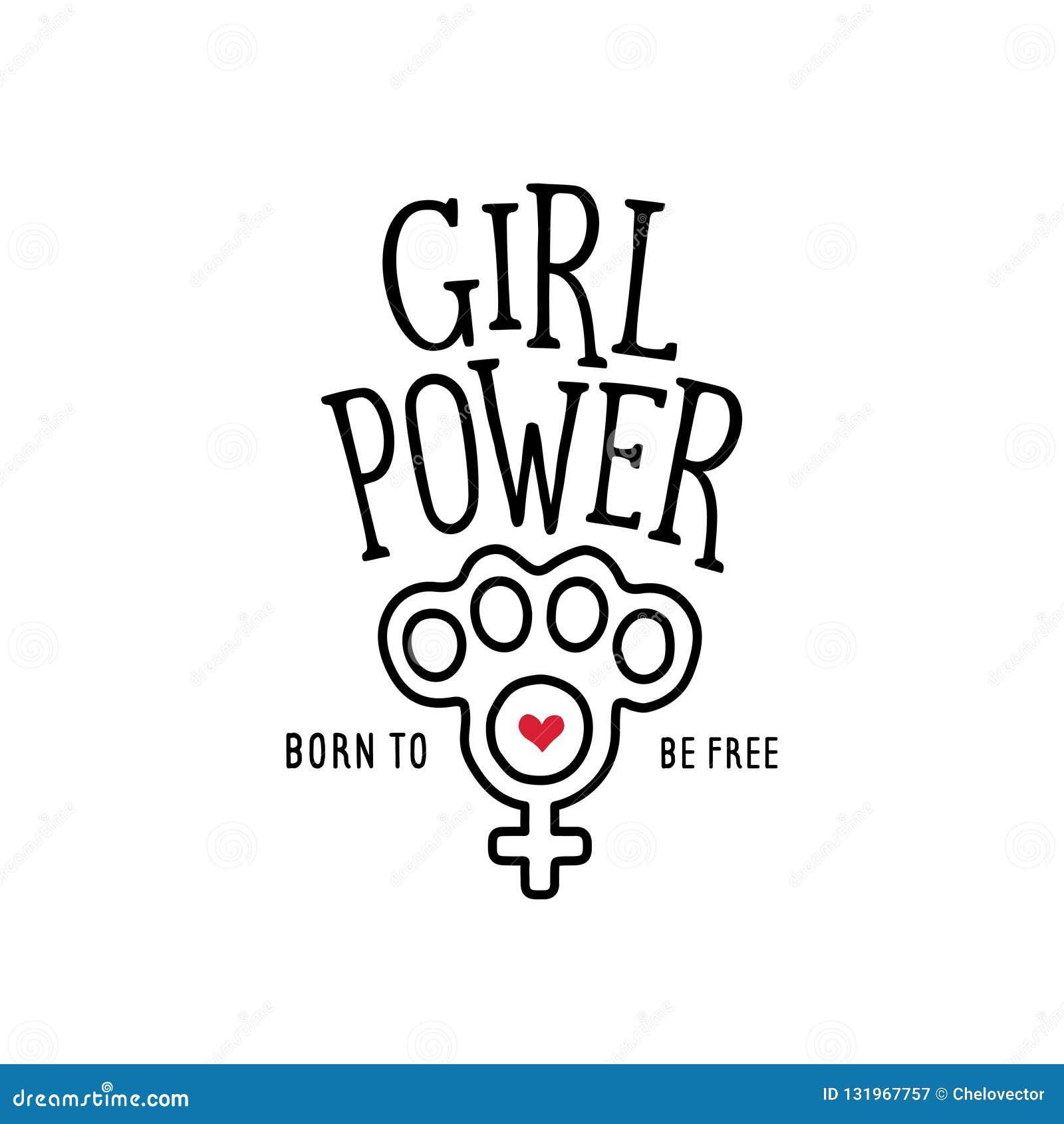 Girl Power Electronic Symbol for Gamer Female Sign Poster ... |Geek Power Girl Symbol