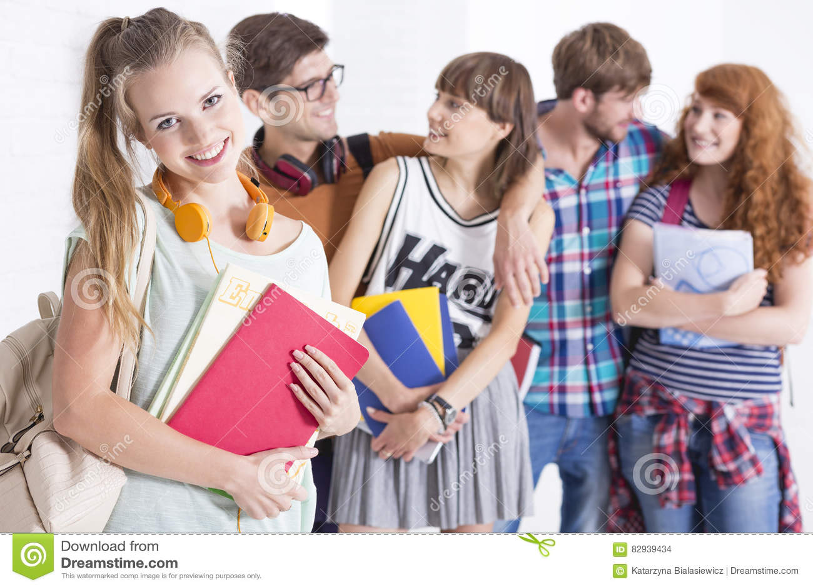 Girl prepared for classes
